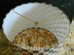 NEW Mackenzie childs lamp shade Large Drum Courtly Check 15 W X 11H