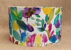 NEW handmade Bluebellgray PETITE MODE pink floral drum lampshade large 35 40cm