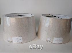 NWT Pottery Barn Tapered drum linen lamp shade large flax