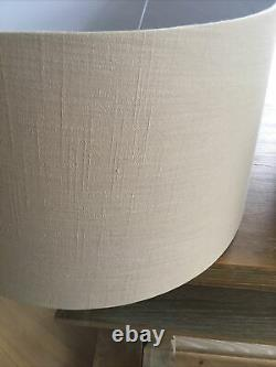 Neptune Lucile 19 Inch Lampshades In Parchment Linen X 2