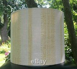New Handmade Lampshade Kate Forman Camille Fabric Saffron / Natural Linen
