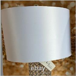 Nicole Miller Crystal Bling White Table Lamp New With Tag Free Shipping