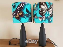 Pair of Designers Guild Christian Lacroix Butterfly Parade Fabric shade & lamps