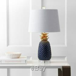Pineapple 23 Ceramic LED Table Lamp, Navy/Gold by JONATHAN Y