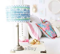 Pottery Barn LILY PULITZER SHELL OF A TIME STRAIGHT SIDED LAMP DRUM SHADE-NIB