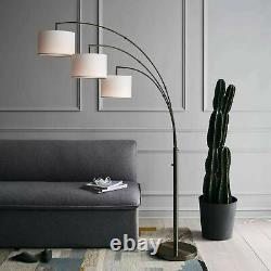 Project 62 Avenal Shaded Arc Floor Lamp Bronze 3 Light withLinen Shades Open Box
