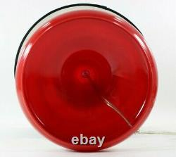 Red Modern Mushroom/Ikea Style Glass Table Lamp withshade and used test bulb