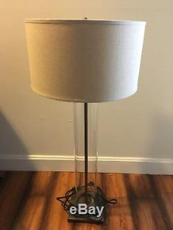 Restoration Hardware RH French Column Buffet Lamps With French Drum Shade