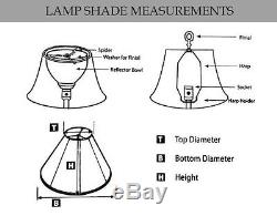 Royal Designs DESIGNERS LAMP SHADE Tapered Drum Finial Fitting BEIGE- 16 / 41cm