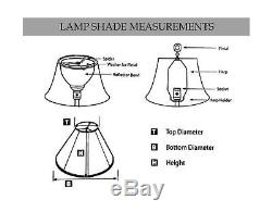 Royal Designs Tapered Drum w V-Notch Top and Bottom Designer Lamp Shade, Eggs
