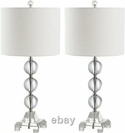Safavieh Lighting Collection Fiona Crystal 24-inch Table Lamp (Set of 2)