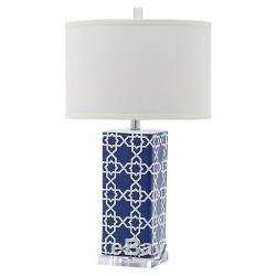 Safavieh Quatrefoil Table Lamp with CFL Bulb, Multiple Colors