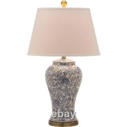 Safavieh Table Lamp Crafted Ceramic Urn Spring Blossom Floral 29 in. 2 Pack