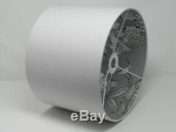 Silver Grey Elephant Parrot Leopard Jungle Drum Lampshade Ceiling Light Shade