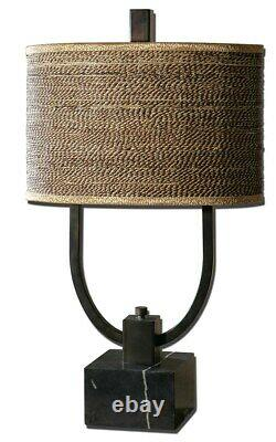 Stabina Tropical Feel Woven Rattan Shade XXL 30 Table Lamp Uttermost 26541