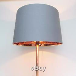 Tapered Grey Copper Empire French Drum Lampshade Lightshade Floor Stand