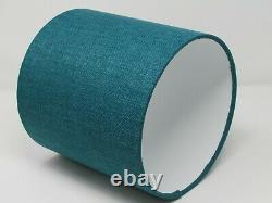 Teal Textured Woven Drum Lampshade Light Shade Statement Contemporary