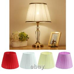 Textured Fabric Bedside Lampshade Table Lamp Floor Light Shade Cover Purple