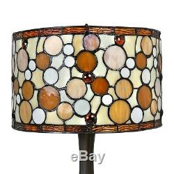 Tiffany Style Contemporary Drum Table Lamp 16 Shade