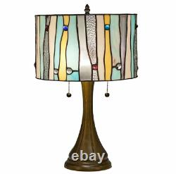 Tiffany Style Stained Glass Contemporary Table Lamp 14 Shade