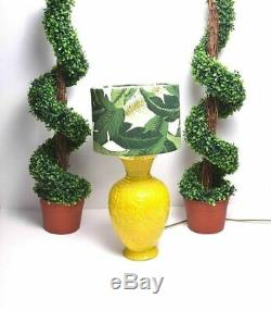 Tommy Bahama Fabric Table Lamp shade Leaf Tropical Palm Damask Lampshade Only