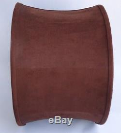 Vintage Brown Fabric Drum Lamp Shade Replacement 10 x 15 Wide