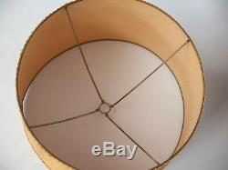 Vintage Gold Yellow Drum Lamp Shade Mid Century Retro 60s 70s Extra Very Large