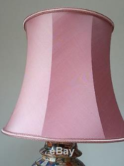 Vintage Large Silk Drum Lamp Shade 12 Tall X 14 1/2 Bottom/ 10 1/2 Top