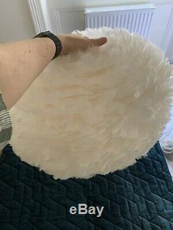 Vita EOS White Large Feather Lampshade Without Box Great Condition RRP £215