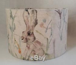 Voyage JACK RABBIT country thistle linen fabric drum lampshade all size CHEAPEST