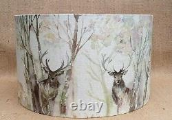 Voyage STAG country woodland Enchanted Forest drum lampshade 20 25 30 35 40 45cm