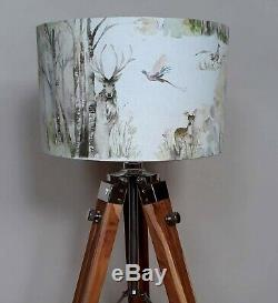 Voyage stag deer fox country Enchanted Forest drum lampshade 20 25 30 35 40 45cm