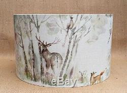 Voyage stag deer fox country Enchanted Forest drum lampshade EXTRA LARGE 45cm