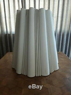Vtg Large 21 Lamp Shade Or Hanging Swag Chandelier Pleated Nubby Fabric Drum