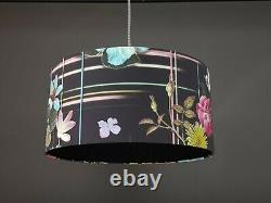 WOW Black Crocodile Snake Skin Lampshade Alligator print Boutique Choose lining