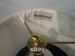 Waterford Crystal 17 Biscuit Barrel Style Table Lamp withShade. Mooncoin. 1976-17