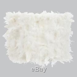 White Feathers Large Chandelier and Sconce Drum Shape Shade 4844